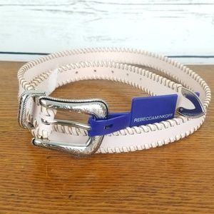 Rebecca Minkoff Belt Pink XL Bonded Leather